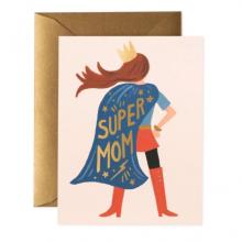 כרטיס ברכה לאמא-  Super Mom