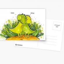 זוג דינוזאורים