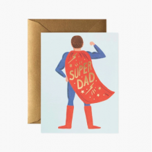 כרטיס ברכה לאבא-  Super Dad