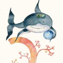 האות כ'- כריש