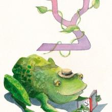 האות צ'- צפרדע