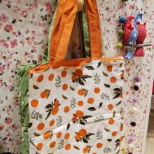 תיק בד דגם תפוזים