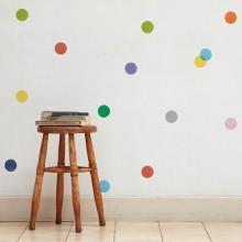 מדבקות קיר אלקטרוסטטיות- עיגולים צבעוניים