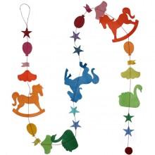 מובייל סוס, ברבור ובלונים בצבעי הקשת