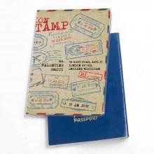 כיסוי דרכון דגם חותמות