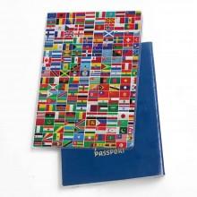 כיסוי דרכון דגם דגלים