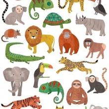 קעקועים- דגם חיות ג'ונגל