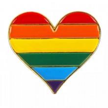 סיכת לב גאווה צבעי הקשת