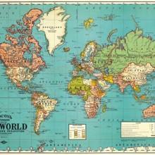 פוסטר/ נייר אריזה- מפת העולם